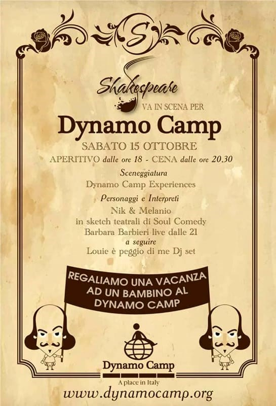 Shakespeare Cafè va in scena per il Dynamo Camp